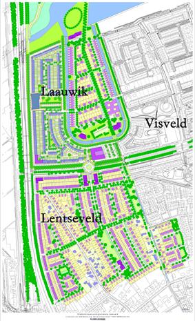 De woonbuurten Laauwik, Lentseveld en Visveld